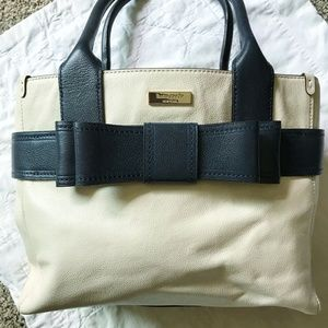 Kate Spade Villabella Tote in Ivory & Navy Blue